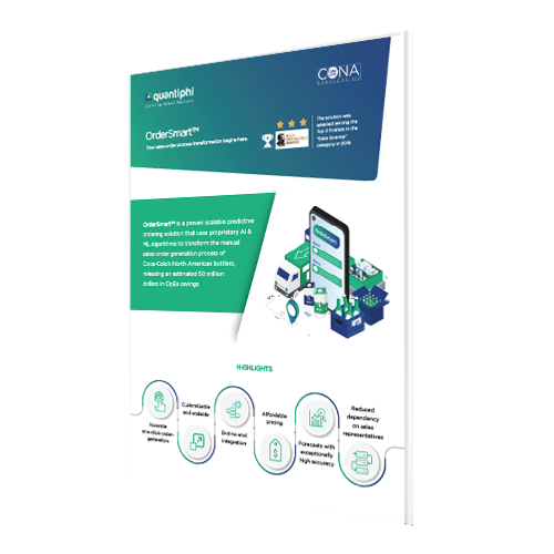AI-powered predictive sales order generation solution for CPG Industry