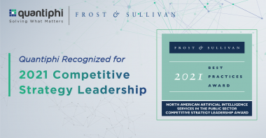 Quantiphi Receives Frost & Sullivan's 2021 North America Competitive Strategy Leadership Award in Artificial Intelligence Services in the Public Sector
